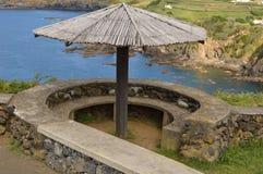 Ponto de jantar panorâmico em Terceira, Açores imagem de stock royalty free