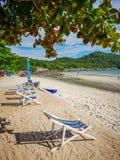 Ponto de Jhakhrapong (extremidade de Tham Pang Point) praia famosa em Sich Fotos de Stock