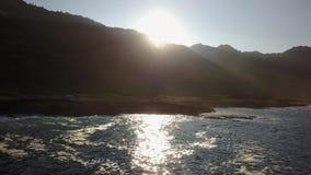 Ponto de Kaena na ilha de Oahu no zangão de Havaí filme