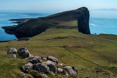 Ponto de Neist na ilha de Skye foto de stock