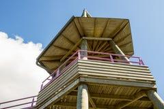 Ponto de observação de madeira Foto de Stock Royalty Free
