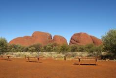 Ponto de observação no parque nacional de Uluru-Kata Tjuta Imagens de Stock
