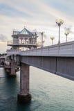 Ponto de opinião da ponte de Sarasin, Phang Nga imagem de stock