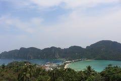 Ponto de opinião de Phi Phi Island Foto de Stock Royalty Free