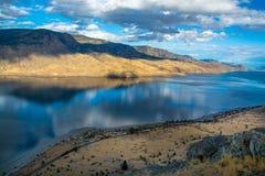 Ponto de opinião do lago Kamloops Trem OM a parte dianteira fotografia de stock royalty free