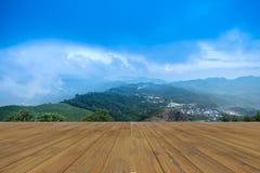 Ponto de opinião do por do sol em Nern Chang Suek Viewpoint, Pilok, Kanchanab Fotos de Stock