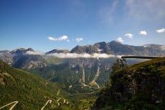 Ponto de opinião de Gaularfjellet imagens de stock royalty free