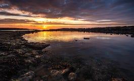 Ponto de Sker, Gales do Sul foto de stock