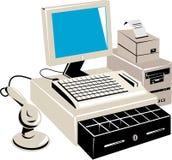 Ponto de venda de varejo do computador Fotografia de Stock