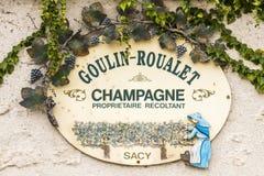 Ponto de venda Ville-Dommange de Chamagne Fotografia de Stock