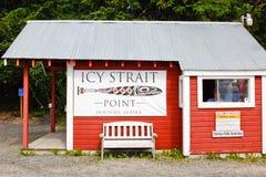Ponto de verificação gelado da segurança do ponto do passo de Alaska Imagens de Stock Royalty Free