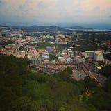 Ponto de vista da cidade de Phuket foto de stock
