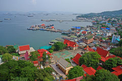Ponto de vista da ilha de Srichang Imagens de Stock Royalty Free