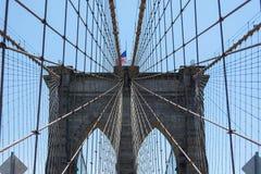 Ponto de vista da ponte de Brooklyn foto de stock royalty free
