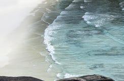 Ponto de vista da rocha do barco de navigação Fotografia de Stock