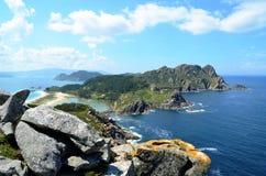 Ponto de vista de Alto del Principe (Islas Cies, Espanha) Imagem de Stock Royalty Free