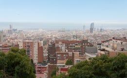 Ponto de vista de Barcelona. Fotos de Stock Royalty Free