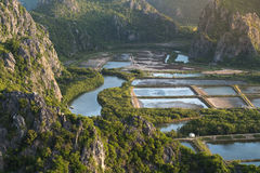 Ponto de vista de Khao Daeng no parque nacional de Khao Sam Roi Yot Imagens de Stock