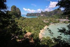 Ponto de vista de Railay Tailândia Imagens de Stock Royalty Free