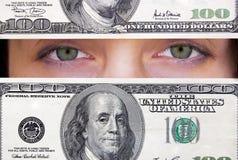 Ponto de vista do dólar Imagens de Stock Royalty Free