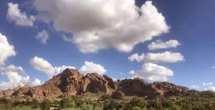 Ponto de vista do lado oeste da montanha do Camelback, Phoenix, fotografia de stock royalty free