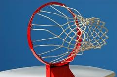 Ponto de vista do objetivo do basquetebol Fotografia de Stock Royalty Free