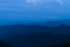 Ponto de vista em Doi Lan Hilltop na província de Lampang, Tailândia Foto de Stock Royalty Free