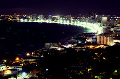 Ponto de vista em Pattaya Imagens de Stock Royalty Free