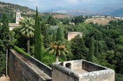 Ponto de vista Granada de Alhambra Fotos de Stock Royalty Free