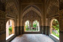 Ponto de vista Lin-dar-Aixa (Mirador de Lin-dar-Aixa) em Alhambra Fotos de Stock