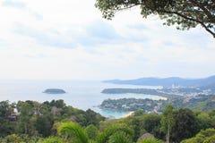 Ponto de vista na baía de Phuket Fotos de Stock Royalty Free