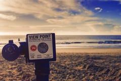 Ponto de vista na praia Imagem de Stock Royalty Free