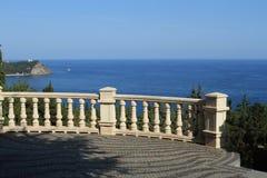 Ponto de vista no beira-mar Fotos de Stock Royalty Free