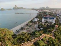 Ponto de vista no krachok do chong de Wat Khao, Prachuab Khirikhan Tailândia Fotos de Stock Royalty Free