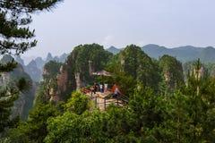 Ponto de vista no parque natural das montanhas do Avatar de Tianzi - Wulingyuan China fotografia de stock royalty free
