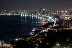 Ponto de vista Pattaya Fotos de Stock Royalty Free