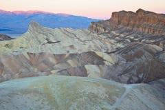 Ponto de Zabrinski do parque nacional de Vale da Morte Foto de Stock