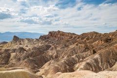 Ponto de Zabriskie no parque nacional de Vale da Morte, Califórnia, EUA Imagens de Stock Royalty Free