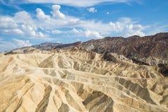 Ponto de Zabriskie no parque nacional de Vale da Morte, Califórnia, EUA Fotografia de Stock Royalty Free
