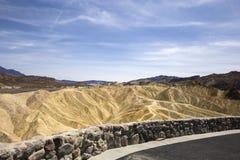 Ponto de Zabriskie, o Vale da Morte, Califórnia Fotografia de Stock