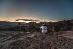Ponto de Zabriskie, o Vale da Morte, Calif?rnia, EUA fotos de stock