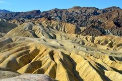 Ponto de Zabriskie, parque nacional de Vale da Morte, Califórnia Fotos de Stock