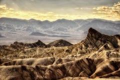 Ponto Death Valley de Zabriskie imagens de stock