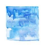 Ponto do azul da aquarela ilustração stock