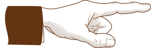 Ponto do dedo Ilustração do Vetor