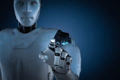 Ponto do dedo do robô ilustração do vetor