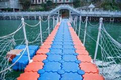 Pontão do distrito de Qingshi do desfiladeiro do Rio Yangtzé Three Gorges Wu Fotos de Stock Royalty Free