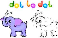 Ponto do elefante a pontilhar Imagens de Stock Royalty Free