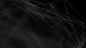 Ponto do fundo e linha abstratos conexão para o conceito futurista da rede da tecnologia do cyber ilustração do vetor