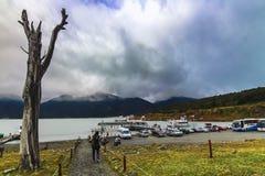 Ponto do molhe de Sombras dos las de Puerto Bajo foto de stock